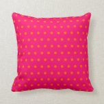 "Pink Orange Polka Dot Pattern Throw Pillow<br><div class=""desc"">A pretty orange and hot pink polka dot pattern. Change the background to your favorite color by choosing &quot;customize it&quot;.</div>"