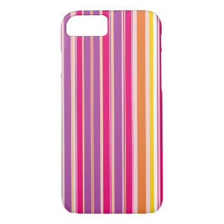 Pink Orange Purple Colorful Girly Stripe Pattern iPhone 7 Case