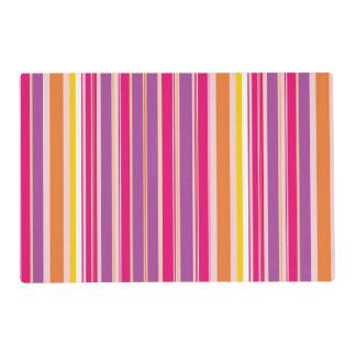 Pink Orange Purple Colorful Girly Stripe Pattern Placemat