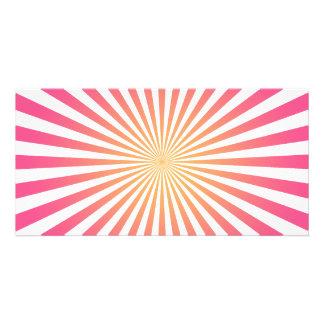 Pink & Orange Radial Lines: Custom Template