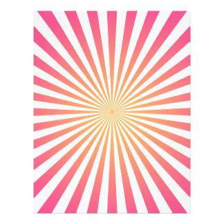 Pink & Orange Radial Lines: Custom Template Customized Letterhead