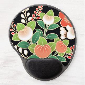Pink & Orange Sakura Japanese Kimono Pattern Gel Mouse Pad