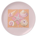 Pink & Orange Shells Party Plates