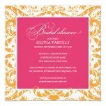 PINK & ORANGE SHOWER | BRIDAL SHOWER INVITE