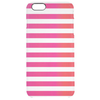 Pink Orange Stripe Clear iPhone 6 Plus Case