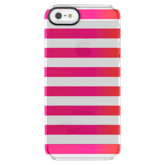 Pink Orange Stripe Clear iPhone SE/5/5s Case