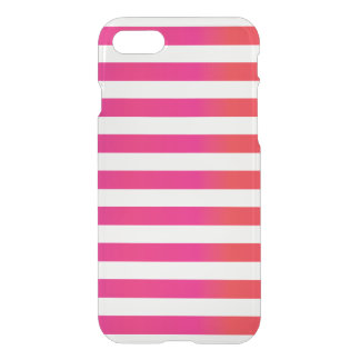 Pink Orange Stripe iPhone 7 Case