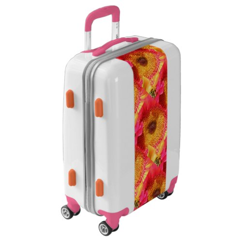 Pink Orange Sunflowers Luggage
