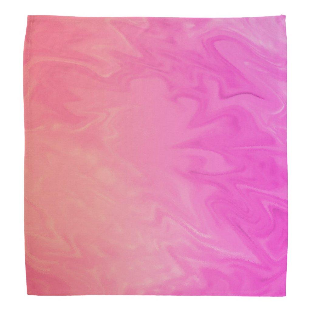 Pink Orange Texture Background Bandana