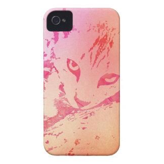 Pink & Orange Tie Dye Cat iPhone 4 Cover