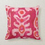 Pink & Orange Tribal Ikat Pillow