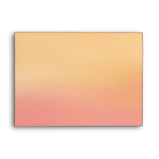 Pink Orange Tropical Beach Sunset Watercolor Envelope