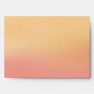 Pink Orange Tropical Beach Sunset Watercolor Envelope