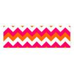 Pink Orange White Zigzag Business Card Template