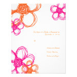 Pink & Orange Wild Flowers Wedding RSVP Personalized Invites