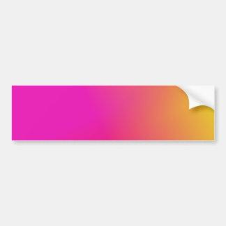 Pink Orange Yellow Ombre Bumper Sticker