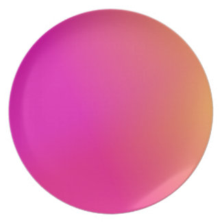 Pink Orange Yellow Ombre Dinner Plate