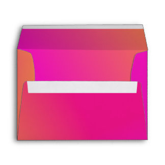 Pink Orange Yellow Ombre Envelope