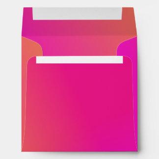 Pink Orange Yellow Ombre Envelope