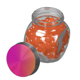 Pink Orange Yellow Ombre Glass Candy Jars