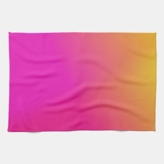 Pink Orange Yellow Ombre Hand Towels
