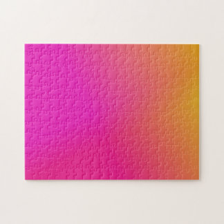 Pink Orange Yellow Ombre Jigsaw Puzzle