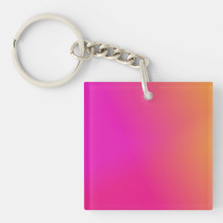 Pink Orange Yellow Ombre Keychain