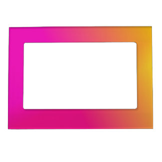 Pink Orange Yellow Ombre Magnetic Frame
