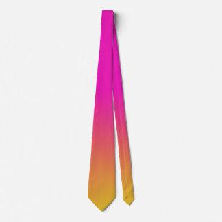 Pink Orange Yellow Ombre Neck Tie