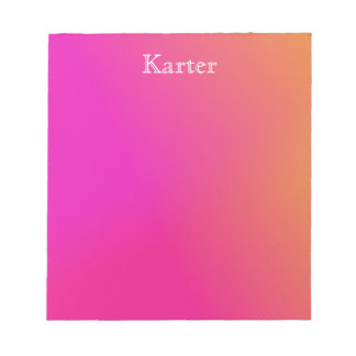 Pink Orange Yellow Ombre Notepad
