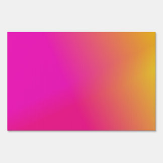 Pink Orange Yellow Ombre Sign