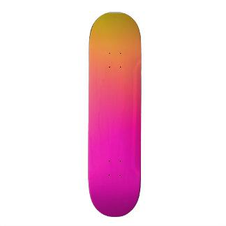 Pink Orange Yellow Ombre Skateboard Deck