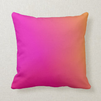 Pink Orange Yellow Ombre Throw Pillow