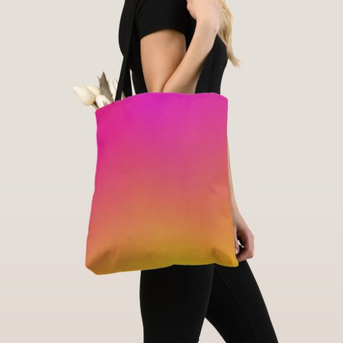 Pink Orange Yellow Ombre Tote Bag