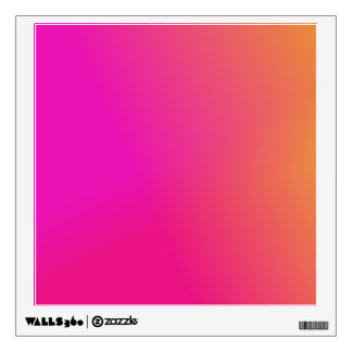 Pink Orange Yellow Ombre Wall Sticker
