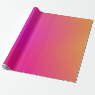 Pink Orange Yellow Ombre Wrapping Paper