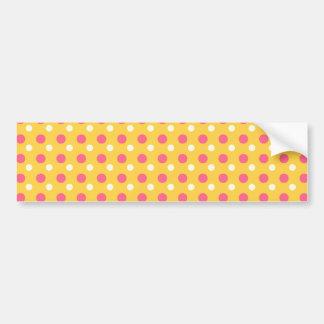 Pink Orange Yellow Polka Dot Pattern Gifts Bumper Sticker