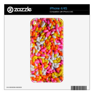Pink Orange Yellow Sprinkles Candy Pattern Decals For The iPhone 4S