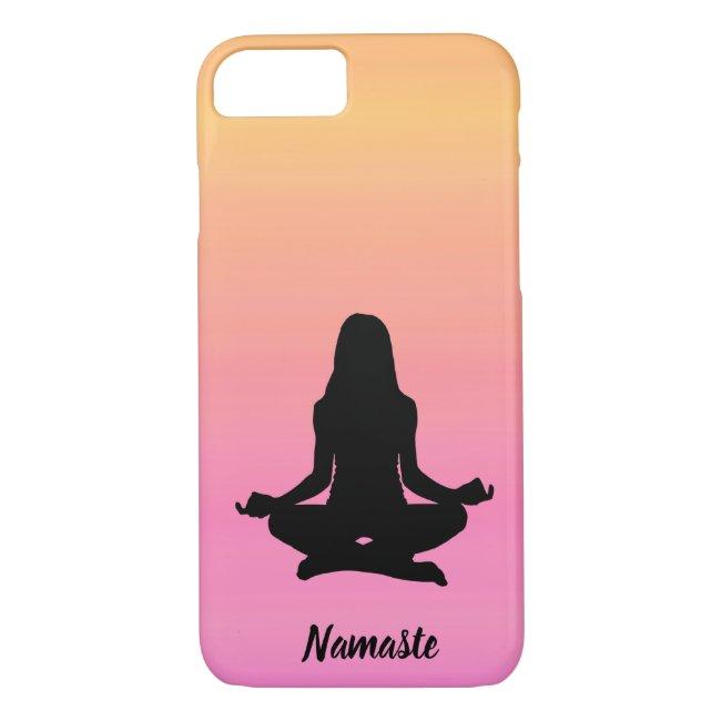 Pink Orange Yoga Rainbow Sunset iPhone 8/7 Case