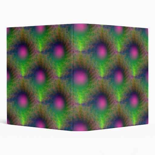 Pink Orb Tiled Binder
