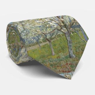 Pink Orchard by Vincent Van Gogh Neck Tie