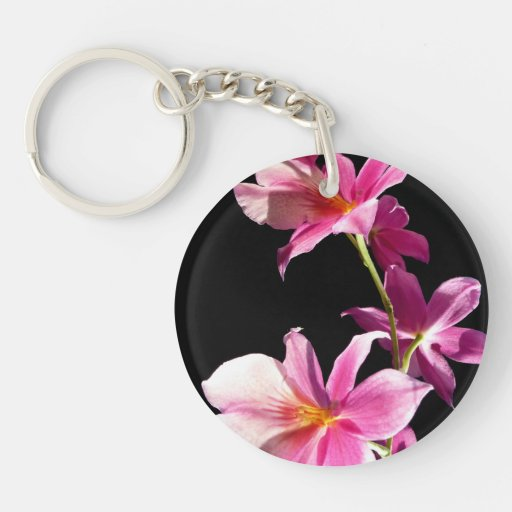 Pink Orchid. Acrylic Key Chain