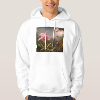 Pink Orchid and Three Hummingbirds Hoodie