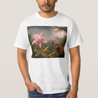 Pink Orchid and Three Hummingbirds T-shirt