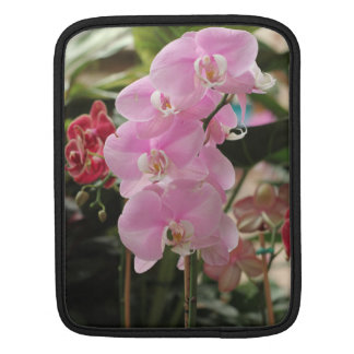 Pink Orchid blooms Sleeve For iPads