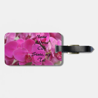 Pink Orchid blooms Tags For Luggage