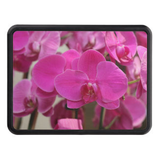 Pink Orchid blooms Trailer Hitch Cover