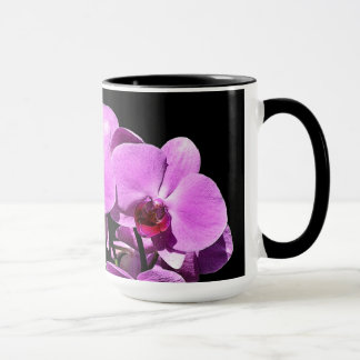 Pink Orchid Blossoms Coffee Mug