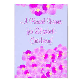 Pink Orchid Bouquet Bridal Shower Card