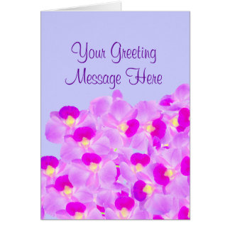 Pink Orchid Bouquet Card